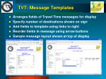 tvt message templates