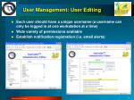 user management user editing