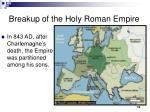 breakup of the holy roman empire