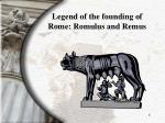 legend of the founding of rome romulus and remus