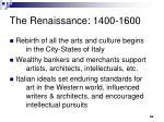 the renaissance 1400 1600
