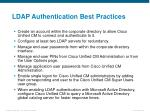 ldap authentication best practices