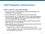 ldap integration authentication