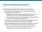 synchronization agreements