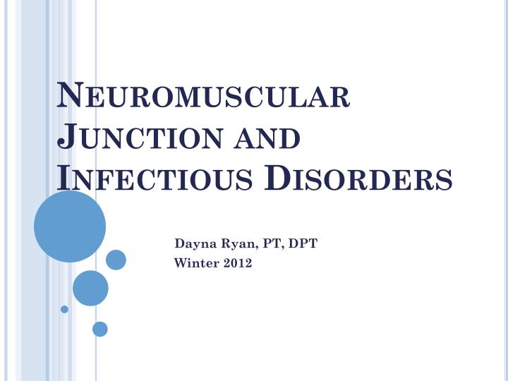 neuromuscular junction and infectious disorders n.