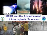 mpar and the advancement of atmospheric sciences1