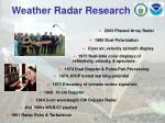 weather radar research