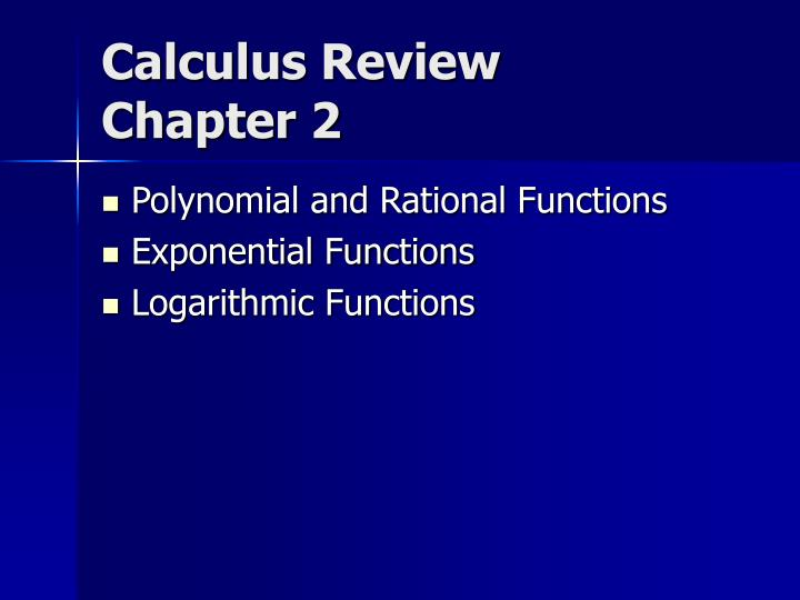 calculus review chapter 2 n.