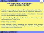 european union energy policy and the lisbon strategy