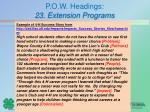 p o w headings 23 extension programs6