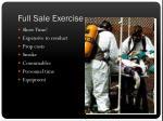 full sale exercise