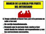 manejo de la biblia por parte del interesado3