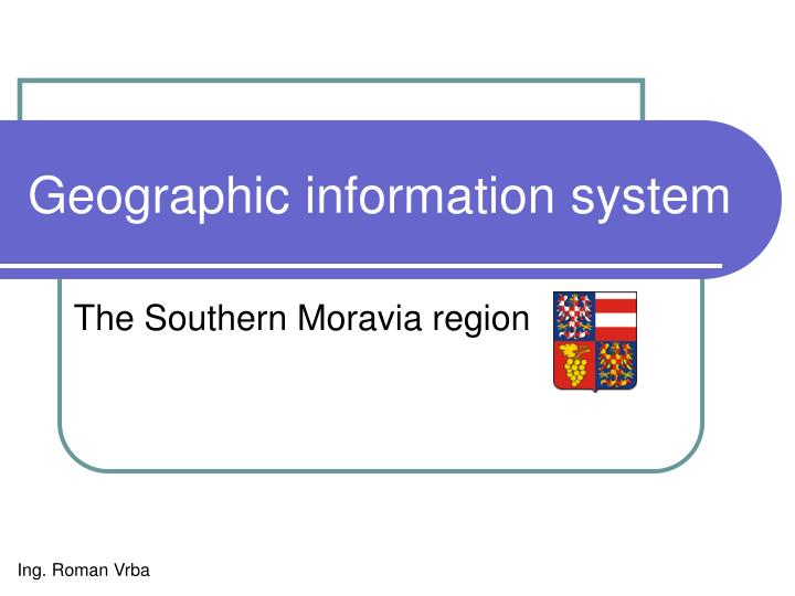 geographic informa t ion syst e m n.