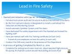 lead in fire safety