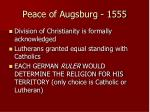 peace of augsburg 1555
