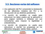 3 3 secciones varias del software