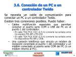 3 6 conexi n de un pc a un controlador twido