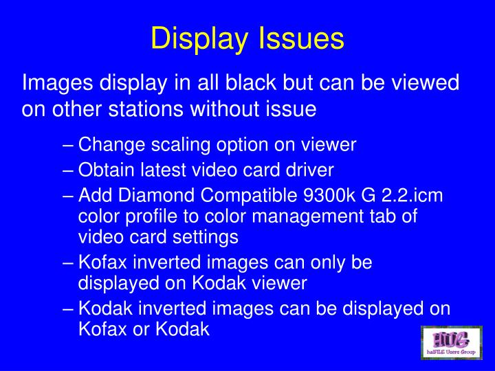Display Issues