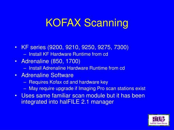 KOFAX Scanning