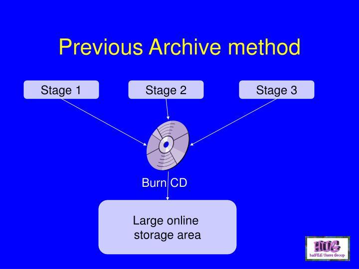 Previous Archive method