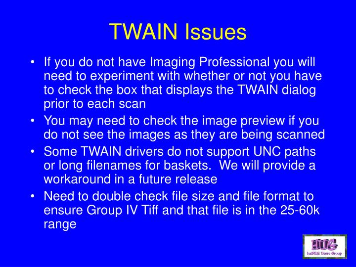 TWAIN Issues