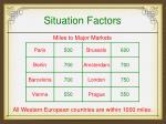 situation factors