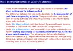 direct and indirect methods of cash flow statement