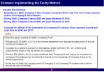 example implementing the equity method