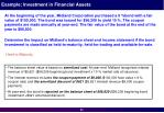example investment in financial assets