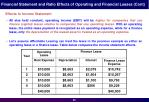 financial statement and ratio effects of operating and financial leases cont