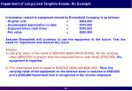 impairment of long lived tangible assets an example