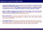 impairment of long lived tangible assets