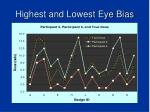 highest and lowest eye bias