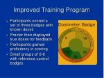 improved training program
