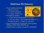 radview pd detector