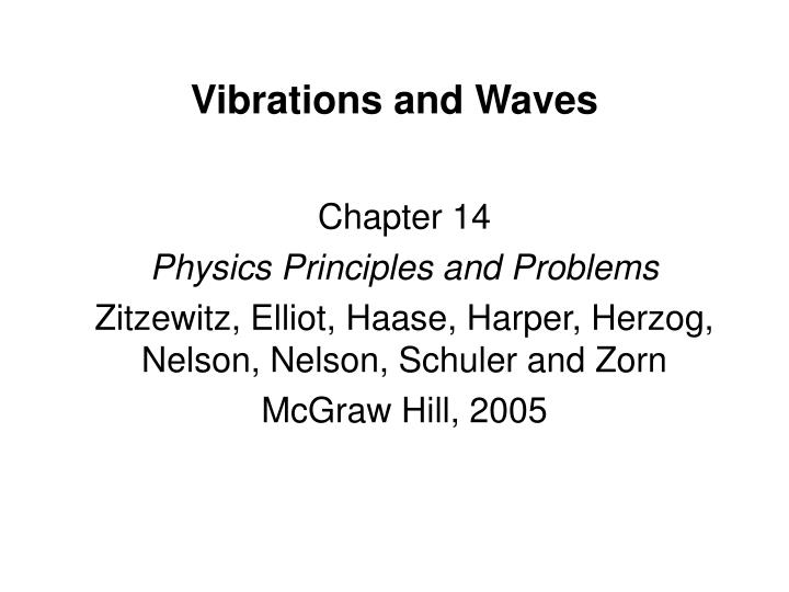 vibrations and waves n.