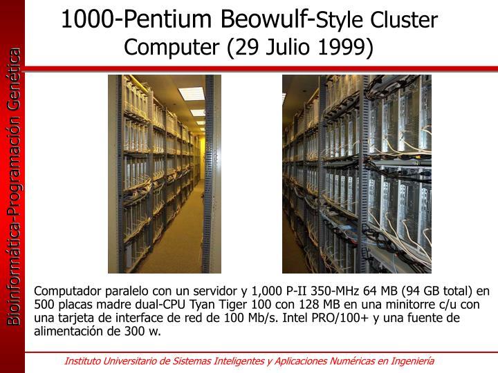 1000-Pentium Beowulf-
