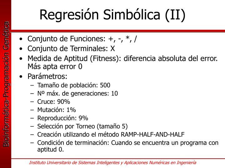 Regresión Simbólica (II)
