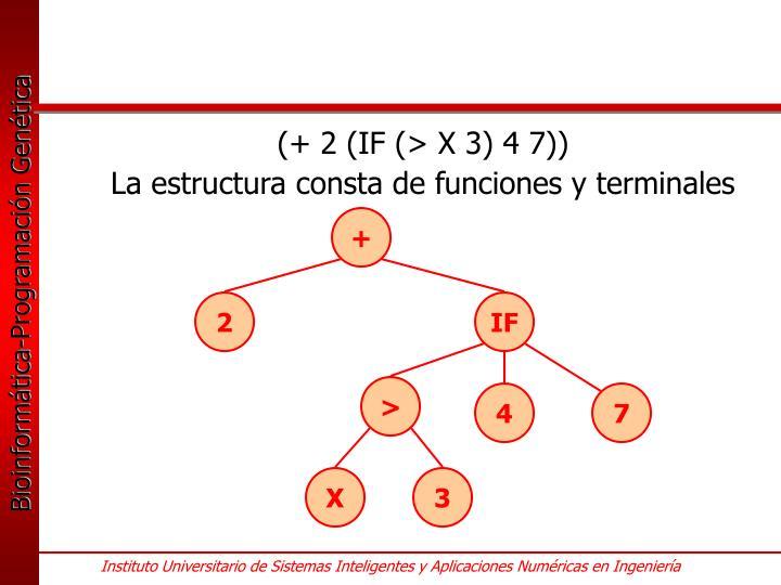 (+ 2 (IF (> X 3) 4 7))