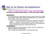 way so far mission accomplishment3