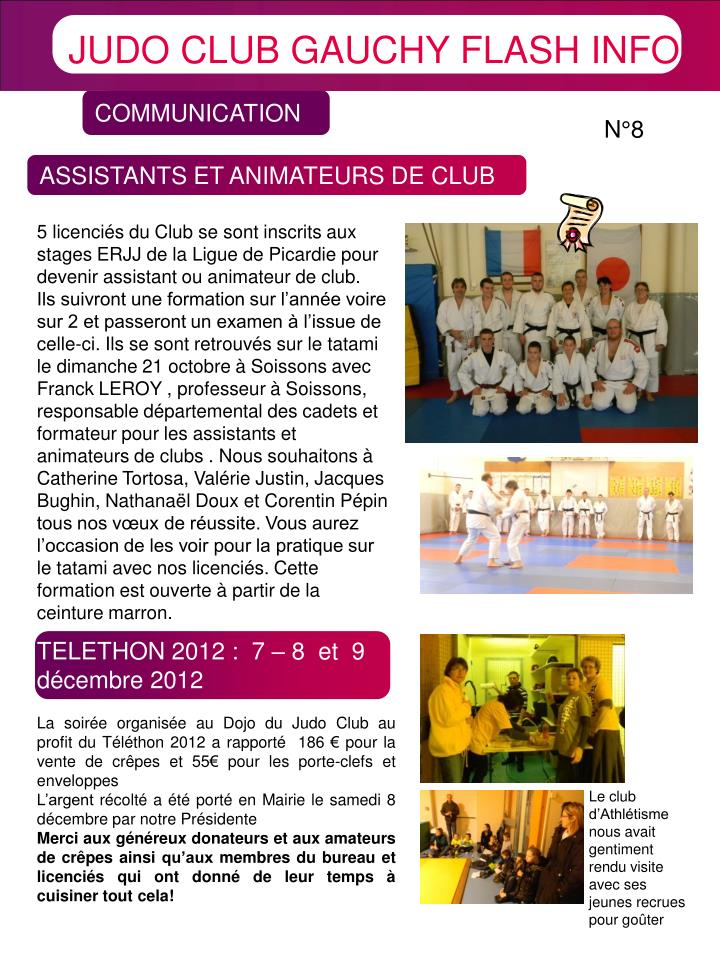 JUDO CLUB GAUCHY FLASH INFO