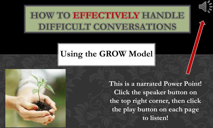 how to effectively handle difficult conversations n.