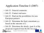 application timeline i 2007