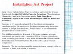 installation art project