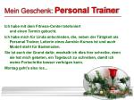 mein geschenk personal trainer
