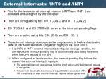 external interrupts int0 and int1