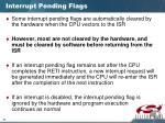interrupt pending flags