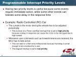 programmable interrupt priority levels1