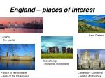 england places of interest