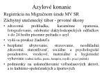 azylov konanie